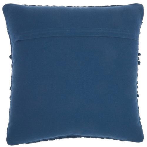 """Life Styles Gc102 Navy 18"""" X 18"""" Throw Pillow"""