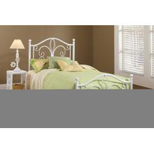 See Details - Ruby Twin Metal Bed, Textured White