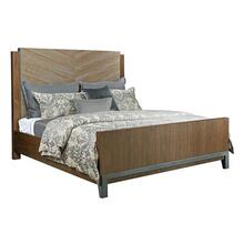 See Details - AD Modern Synergy California King Maple Chevron Bed
