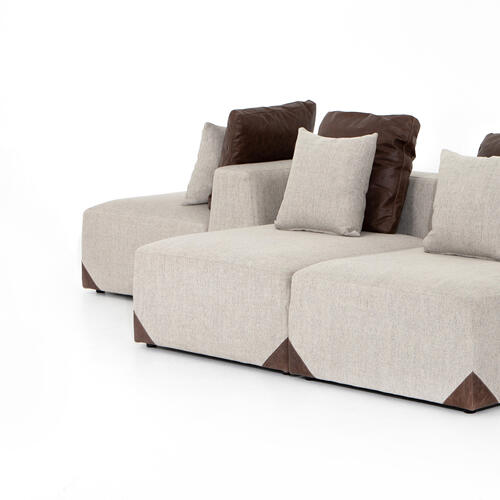 Madden 7 PC Sectional-gabardine Wheat