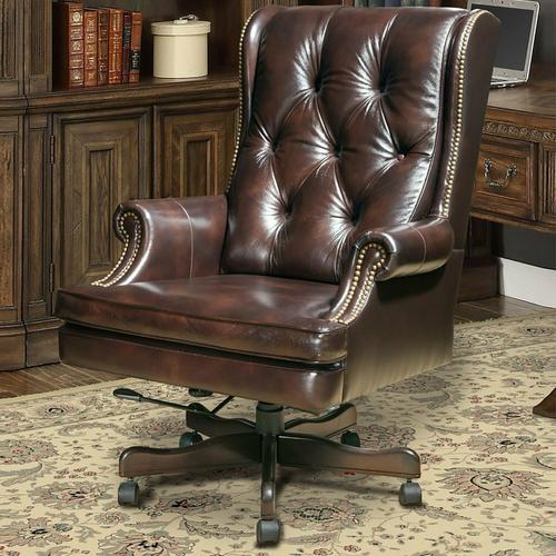 DC#112-HA - DESK CHAIR Leather Desk Chair