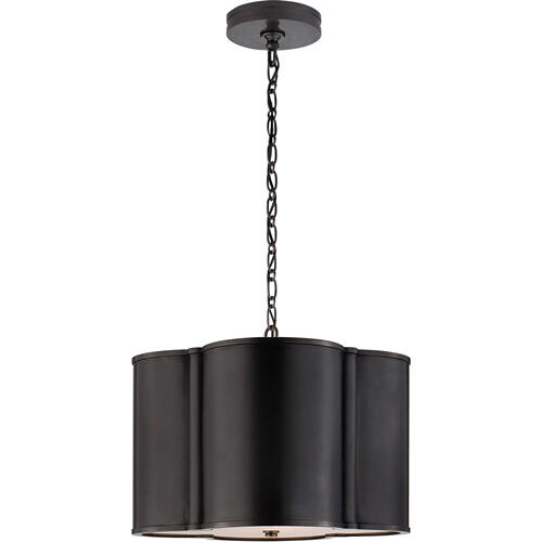 Alexa Hampton Basil 2 Light 19 inch Gun Metal Hanging Shade Ceiling Light