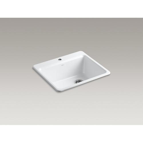 """Biscuit 25"""" X 22"""" X 9-5/8"""" Top-mount Single-bowl Kitchen Sink With Sink Rack"""