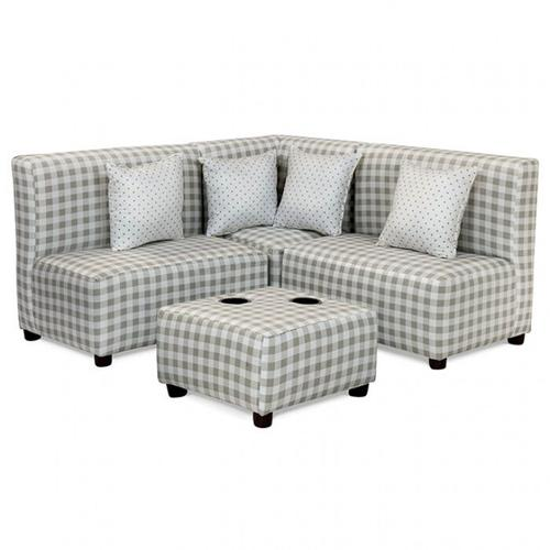 Furniture of America - Bethanie Kids Sectional W/ Ottoman