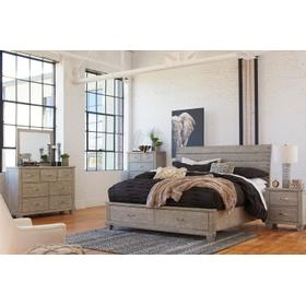 Naydell 4 Pc King Bedroom Set Rustic Gray
