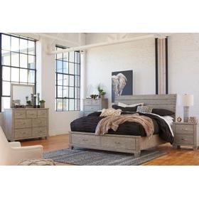 Naydell 4 Pc King Bedroom Set Rustic Gray