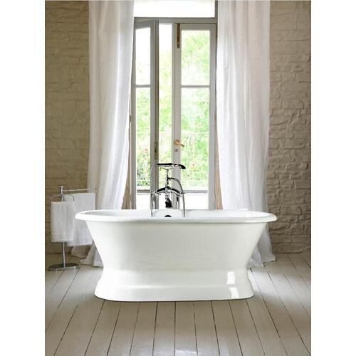 """Cromwell 66"""" Cast Iron Double Roll Top Tub on Base - 7"""" Rim Holes"""