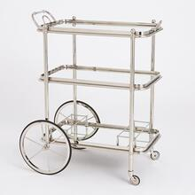 See Details - English Bar Cart and Tea Trolley-Nickel
