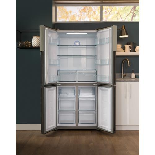 Haier - 16.4 Cu. Ft. Quad Door Refrigerator