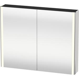 Mirror Cabinet, White High Gloss (decor)