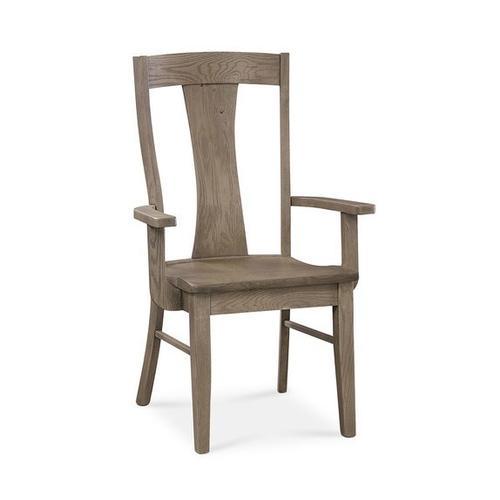 Bassett Furniture - Barnes Oak Arm Chair
