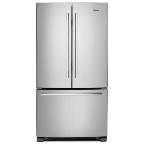 Whirlpool - 36-inch Wide French Door Refrigerator with Crisper Drawer - 25 cu. ft. Fingerprint Resistant Stainless Steel