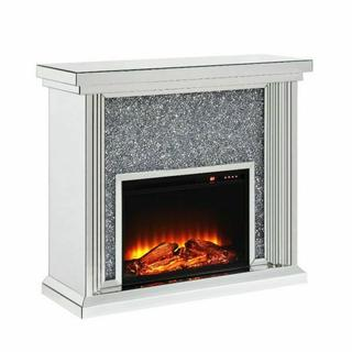 ACME Noralie Fireplace - 90455 - Mirrored & Faux Diamonds