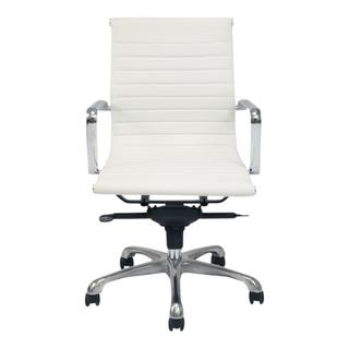 Omega Swivel Office Chair Low Back White