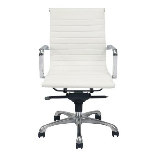 Moe's Home Collection - Omega Swivel Office Chair Low Back White
