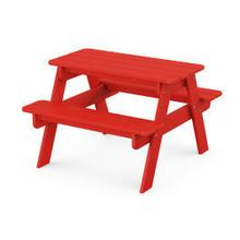 View Product - Kids Picnic Table in Sunset Red