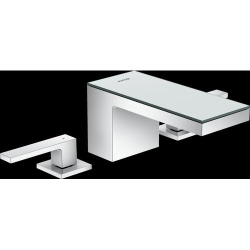 AXOR - Chrome / Mirror Glass Widespread Faucet 70, 1.2 GPM