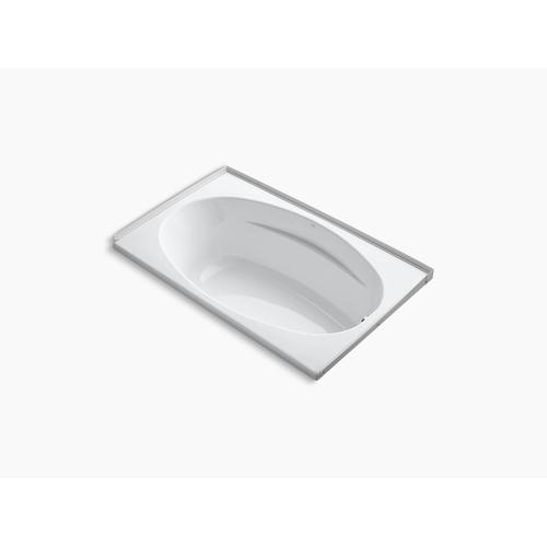 """Biscuit 60"""" X 36"""" Alcove Bath With Integral Flange and Right-hand Drain"""