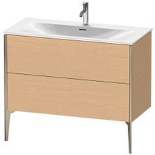 View Product - Vanity Unit Floorstanding, Brushed Oak (real Wood Veneer)