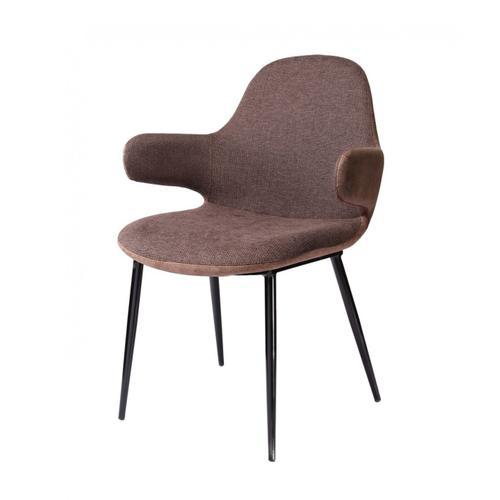 Gallery - Modrest Bontura - Modern Brown Fabric & Leatherette Accent Chair