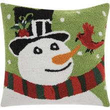 "Home for the Holiday Yx026 Multicolor 18"" X 18"" Throw Pillow"