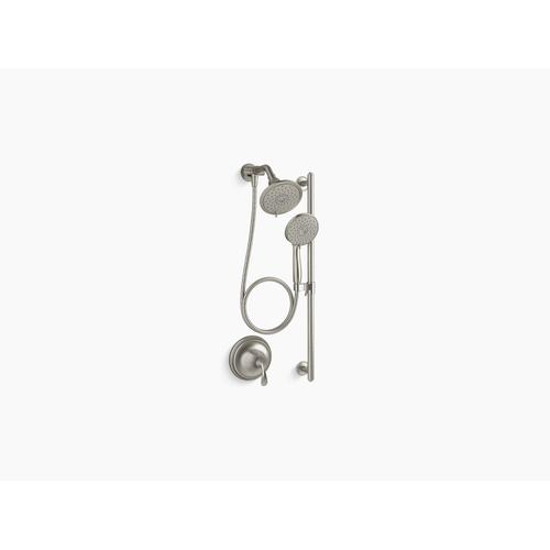 Vibrant Brushed Nickel Essentials Performance Showering Package, 2.5 Gpm