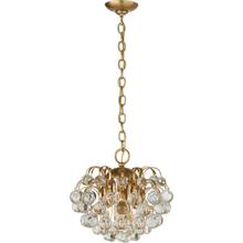 AERIN Bellvale 6 Light 15 inch Hand-Rubbed Antique Brass Chandelier Ceiling Light, Small