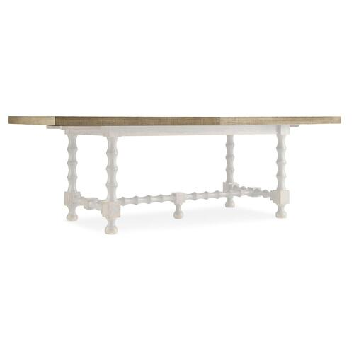 Dining Room Ciao Bella 84in Trestle Table w/ 2-18in Leaves-Natural/Black
