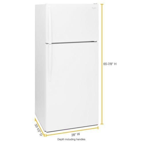 Gallery - 28-inch Wide Top Freezer Refrigerator - 16 cu. ft.