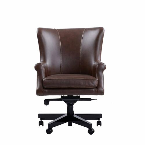 DC#129 Verona Brown - DESK CHAIR Leather Desk Chair
