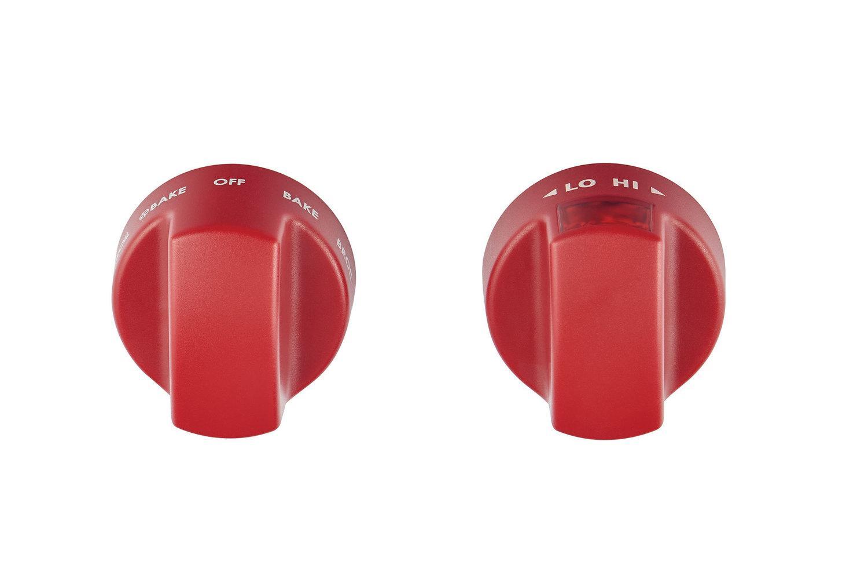 WolfInduction Range Red Knobs
