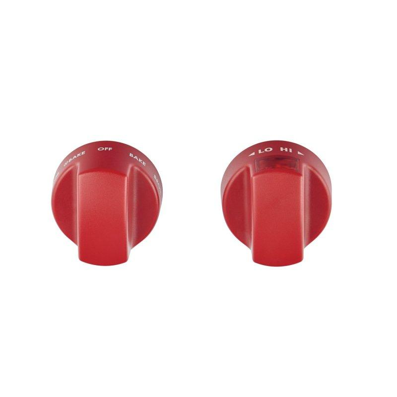 Induction Range Red Knobs