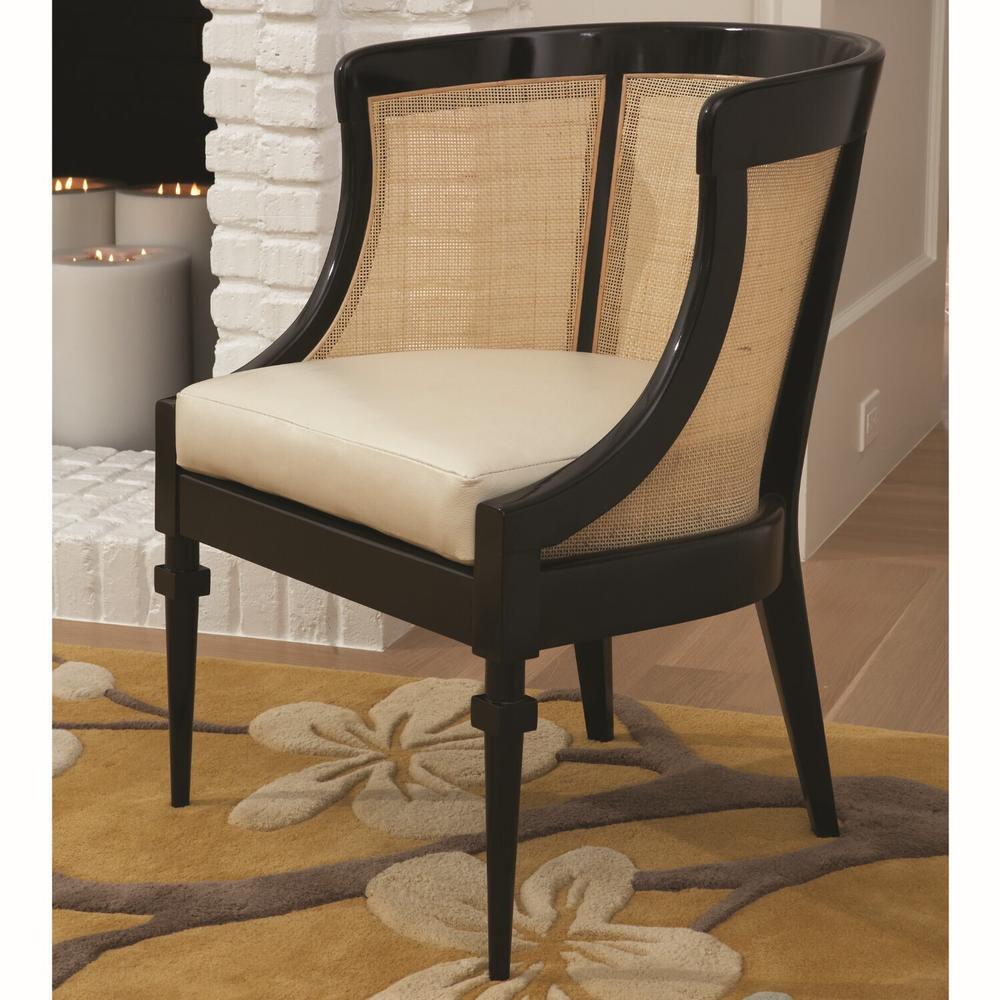 See Details - Cane Chair-Black