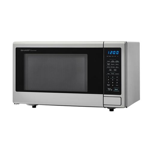 Sharp - 1.1 cu. ft. 1000W Sharp Stainless Steel Carousel Countertop Microwave Oven