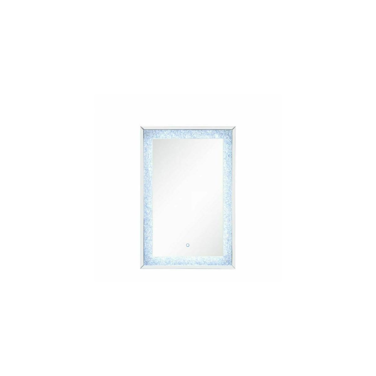 ACME Noralie Wall Decor (LED) - 97706 - Glam - LED Light, Mirror, Glass, MDF, Faux Diamonds (Acrylic) - Mirrored and Faux Diamonds