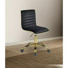 ACME Alessio Office Chair - 92516 - Black Velvet & Gold