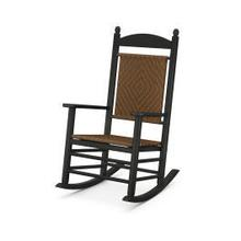 View Product - Jefferson Woven Rocking Chair in Black Frame / Tigerwood