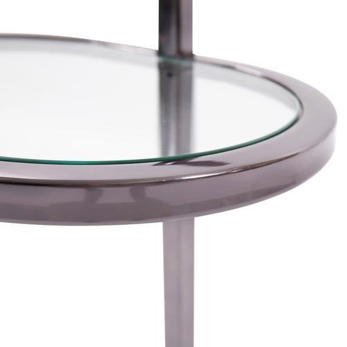 Howard Elliott - Oval Stainless Steel Drink Table