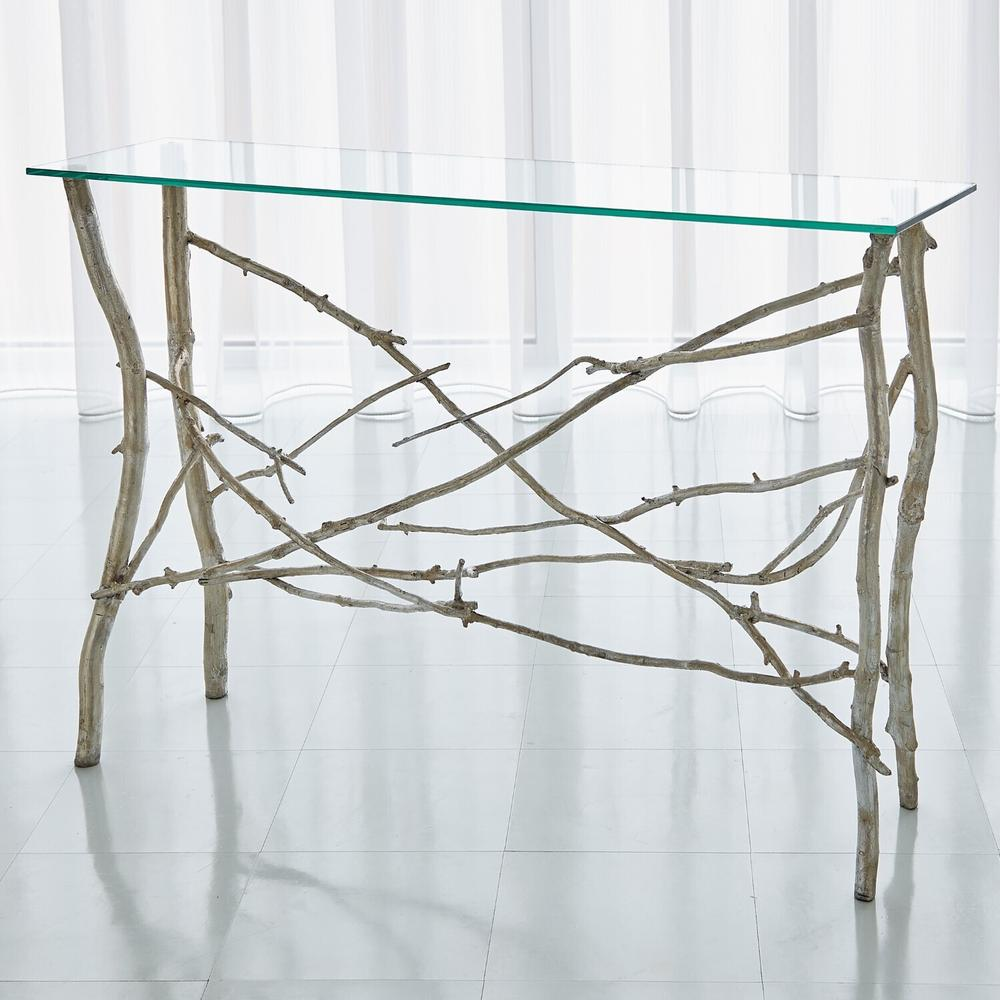 See Details - Twig Console-Silver Leaf