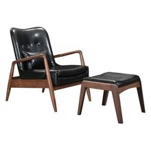 See Details - Bully Lounge Chair & Ottoman Black