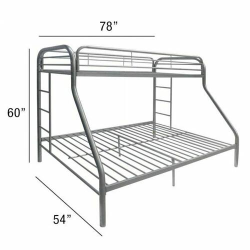 ACME Tritan Twin/Full Bunk Bed - 02053SI - Silver