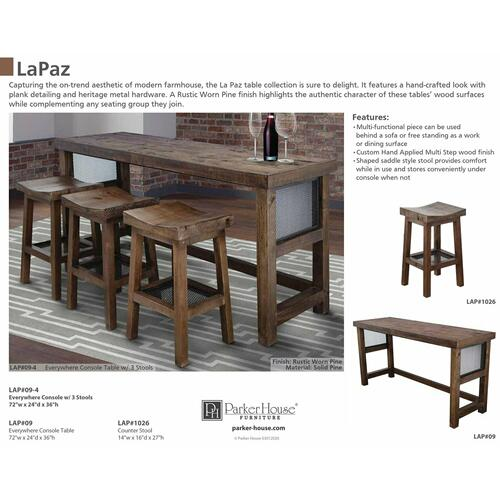 LAPAZ Everywhere Console with 3 Stools