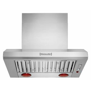 """36"""" 585 or 1170 CFM Motor Class Commercial-Style Wall-Mount Canopy Range Hood - Stainless Steel Product Image"""