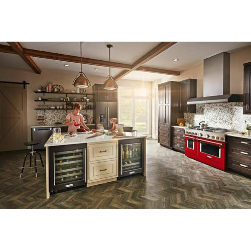 KitchenAid - KitchenAid® 48'' Smart Commercial-Style Dual Fuel Range with Griddle - Passion Red