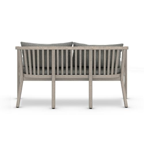 Faye Ash Cover Tate Outdoor Bench, Weathered Grey