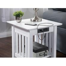 See Details - Mission End Table with Charger White