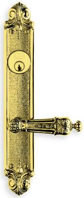 Ornate Narrow Backset Lever Lockset in (Ornate Narrow Backset Lever Lockset - Solid Brass) Product Image