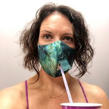 See Details - Happy Hour Reusable Face Mask in Tie Dye Indigo