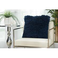 "Shag Tl003 Navy 20"" X 20"" Throw Pillow"