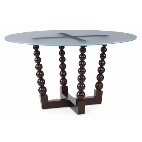 Artefact Bobbin Dining Table With Frosted Glass Top